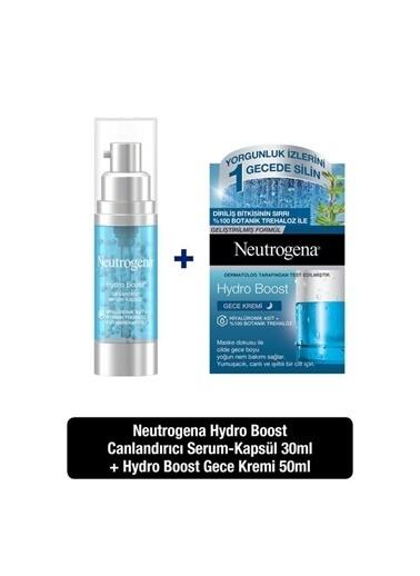 Neutrogena Hydro Boost Canlandırıcı Serum-Kapsül 30 Ml + Hydro Boost Gece Kremi 50 Ml Renksiz